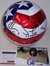 Hope Solo - Autographed Baden USA Soccer Ball - PSA
