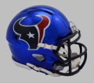 Houston Texans - Chrome Alternate Speed Riddell Mini Football Helmet