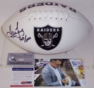 Howie Long - Autographed Raiders Full Size Logo Football - PSA/DNA