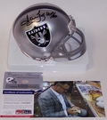 Howie Long - Riddell - Autographed Mini Helmet Los Angeles Raiders - PSA/DNA
