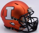 Illinois Fighting Illini Speed Riddell Mini Football Helmet