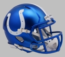 Indianapolis Colts - Blaze Alternate Speed Riddell Mini Football Helmet