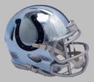 Indianapolis Colts - Chrome Alternate Speed Riddell Full Size Authentic Proline Football Helmet