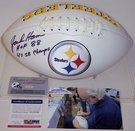 Jack Ham - Autographed Pittsburgh Steelers Full Size Logo Football - PSA/DNA
