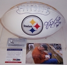 Jack Lambert - Autographed Pittsburgh Steelers Full Size Logo Football - PSA/DNA