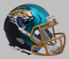 Jacksonville Jaguars - Blaze Alternate Speed Riddell Mini Football Helmet