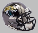 Jacksonville Jaguars - Chrome Alternate Speed Riddell Full Size Authentic Proline Football Helmet