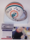 Jake Scott - Autographed 2-Bar Throwback Mini Helmet - Miami Dolphins - PSA/DNA