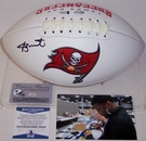 Jameis Winston - Autographed Tampa Bay Bucs Full Size Logo Football - BAS Beckett