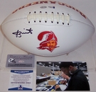 Jameis Winston - Autographed Tampa Bay Bucs Throwback  Full Size Logo Football - BAS Beckett