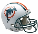 Jason Taylor - Autographed Miami Dolphins Throwback Riddell Full Size Authentic Proline Football Helmet