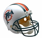 Jason Taylor - Autographed Miami Dolphins Throwback Riddell Full Size Deluxe Football Helmet