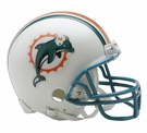 Jason Taylor - Autographed Miami Dolphins Throwback Riddell Mini Football Helmet