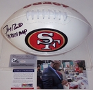 Jerry Rice - Autographed San Francisco 49ers Full Size Logo Football - PSA/DNA