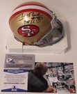 Jerry Rice - Riddell - Autographed Mini Helmet - S.F. 49er's - PSA/DNA