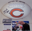 Jim McMahon - Autographed Chicago Bears Full Size Logo Football - PSA/DNA