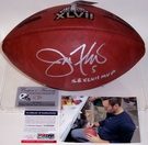 Joe Flacco - Autographed Official Wilson Super Bowl XLVII NFL Football - PSA/DNA