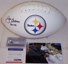 Joe Greene - Autographed Pittsburgh Steelers Full Size Logo Football - PSA/DNA