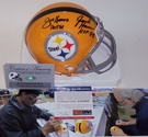 Joe Greene / Jack Ham - Riddell - Autographed Mini Helmet - Pittsburgh Steelers - PSA/DNA
