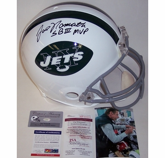 4844b8790ac Joe Namath - Autographed Official Full Size Riddell Authentic Proline  Football Helmet - NY Jets Throwback - PSA DNA