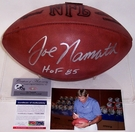 Joe Namath - Autographed Official Wilson NFL Leather Football - PSA/DNA