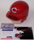 Johnny Bench - Autographed Batting Mini Helmet - Cincinnati Reds