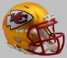 Kansas City Chiefs - Blaze Alternate Speed Riddell Mini Football Helmet