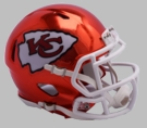 Kansas City Chiefs - Chrome Alternate Speed Riddell Full Size Deluxe Replica Football Helmet