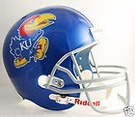 Kansas Jayhawks Riddell NCAA Full Size Deluxe Replica Football Helmet