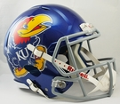 Kansas Jayhawks Riddell NCAA Full Size Deluxe Replica Speed Football Helmet