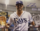 Kevin Kiermaier - Autographed 11x14 photo Tampa Bay Rays