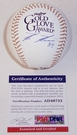 Kevin Kiermaier - Autographed Official Rawlings Gold Glove MLB League Baseball - PSA/DNA