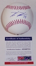 Kevin Kiermaier - Autographed Official Rawlings MLB League Baseball - PSA/DNA