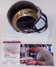 Kurt Warner - Riddell - Autographed Mini Helmet - St. Louis Rams Throwback - JSA