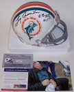 Larry Csonka - Autographed 1972 Throwback Mini Helmet - Miami Dolphins - PSA/DNA