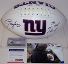 Lawrence Taylor - Autographed New York Giants Full Size Logo Football - PSA/DNA