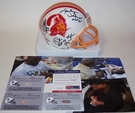 Lee Roy Selmon / Warren Sapp / Derrck Brooks - Riddell - Autographed  T/B Mini Helmet w/HOF - Tampa Bay Bucs - PSA/DNA