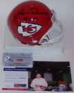 Len Dawson - Riddell - Autographed Mini Helmet - Kansas City Chiefs - PSA/DNA