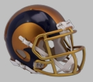 Los Angeles Rams - Blaze Alternate Speed Riddell Mini Football Helmet