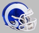 Los Angeles Rams - Chrome Alternate Speed Riddell Full Size Deluxe Replica Football Helmet
