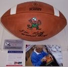 Lou Holtz - Autographed Wilson Official Leather Notre Dame NCAA Football - F1008 - PSA/DNA