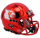 Louisville Cardinals Red Chrome Speed Riddell Mini Football Helmet