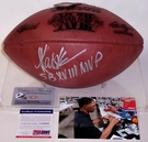 Marcus Allen - Autographed Official Wilson Leather Super Bowl XVIII NFL Football - PSA/DNA