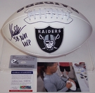 Marcus Allen - Autographed Raiders Full Size Logo Football - PSA/DNA