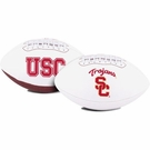 Marcus Allen - Autographed USC Trojans Full Size Logo Football