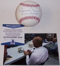 Mariano Rivera - Autographed Official Rawlings MLB League Baseball - BAS Beckett