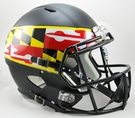 Maryland Terps Riddell NCAA Full Size Deluxe Replica Speed Football Helmet