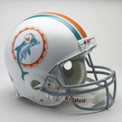 Mercury Morris - Autographed Miami Dolphins Throwback Riddell Full Size Authentic Proline Football Helmet