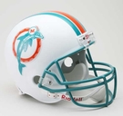 Mercury Morris - Autographed Miami Dolphins Throwback Riddell Full Size Deluxe Football Helmet