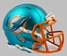 Miami Dolphins - Blaze Alternate Speed Riddell Mini Football Helmet